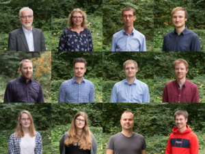 Collage mit Portraits des Techniksoziologie-Teams